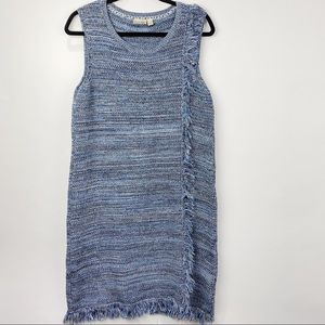 Holding Horses Anthro tweed blue sleeveless dress